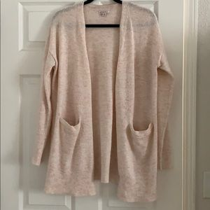 Pink Acrylic Merona Cardigan Sweater with Pockets